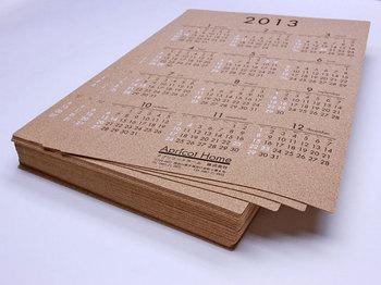 コルクカレンダー(名入れ)を納品しました。