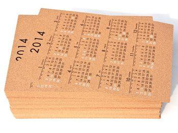 コルクカレンダーを納品しました。