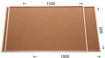 特注コルクボード納品完了(枠付、1800×900・1500×900 30mm)