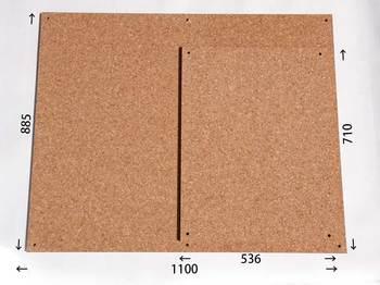 特注コルクボード納品完了(枠なし1100×885、710×536 18mm)