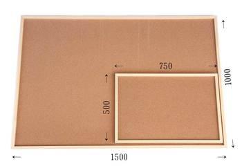 特注コルクボード納品完了(枠付 1500×1000、750×500×30mm)