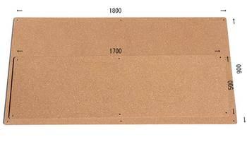 特注コルクボード納品完了(枠なし屋外仕様、1800×900、1700×500 13.5mm)