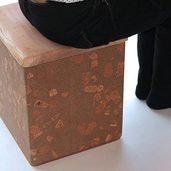 四角のコルクスツール