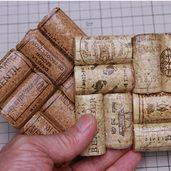 ワイン栓で作ったコースター
