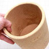 リサイクルコルクで作った筒