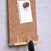 キーフック付きコルクボード(裏面磁石付き)