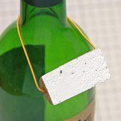 コルク栓で作ったボトルキープです。
