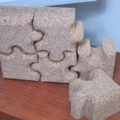 コルクで作ったジグソーブロック
