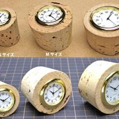 コルク栓で時計作りました。