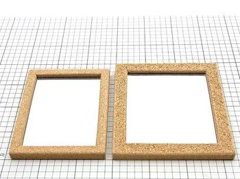 コルクで作った卓上鏡