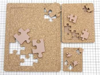 コルクのジグソーパズル作りました。